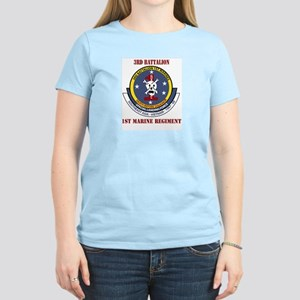 3rd Battalion - 1st Marines with Text Women's Ligh