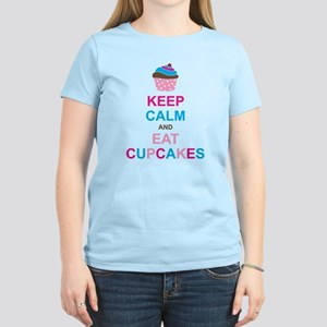 Keep Calm and Eat Cupcakes Women's Light T-Shirt