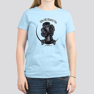 Black Standard Poodle IAAM Women's Light T-Shirt