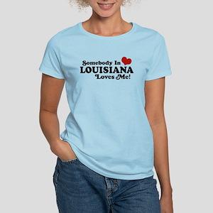 Somebody in Louisiana Loves me Women's Light T-Shi
