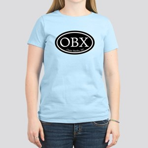 OBX Outer Banks, NC Oval Women's Light T-Shirt