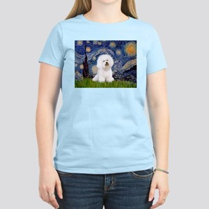 Starry Night Bichon Women's Light T-Shirt