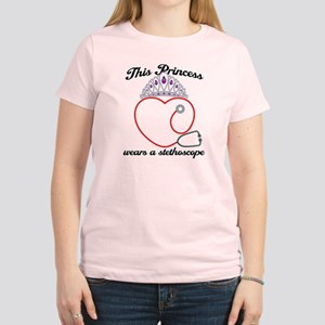 Stethoscope Princess Women's Light T-Shirt