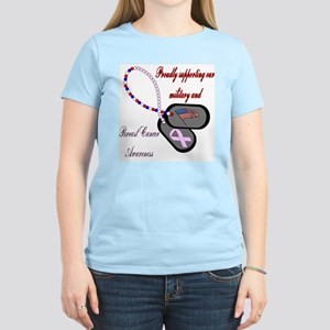 Colored Red text BC Dog Tag Women's Light T-Shirt