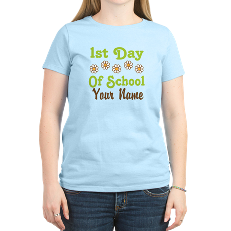 1st Day of School Personalized Women's Light T-Shi