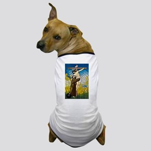 St Francis Embraces Jesus 2 Dog T-Shirt