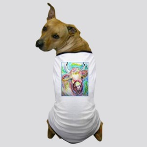 Cow, colorful, art, Dog T-Shirt