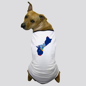 Guam Flag and Map Dog T-Shirt