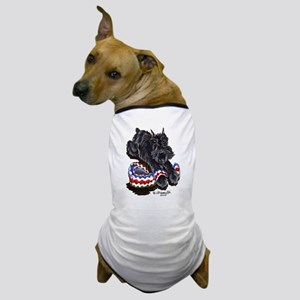 Black Schnauzer Afghan Dog T-Shirt