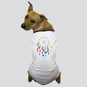 Rainbow DreamCatcher Dog T-Shirt