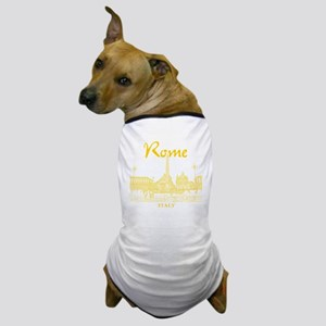 Rome_10x10_v1_Yellow_Piazza del Popolo Dog T-Shirt