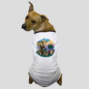 St Francis (ff) - Rev 2 - 4 cats Dog T-Shirt