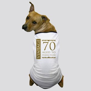 Fancy Vintage 70th Birthday Dog T-Shirt