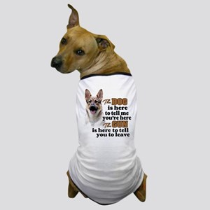 Beware of Dog/Gun (German Shepherd) Dog T-Shirt