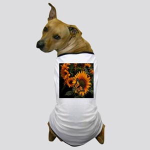 Sunflower Radiance Monarch Butterfly Dog T-Shirt