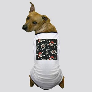 Pirate Skulls Dog T-Shirt