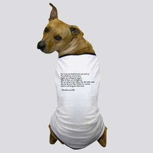 Heraclitus Quote Dog T-Shirt