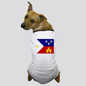Acadiana Flag Louisiana Dog T-Shirt