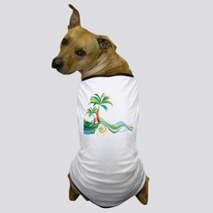 Rainbow Palm Tree Dog T-Shirt