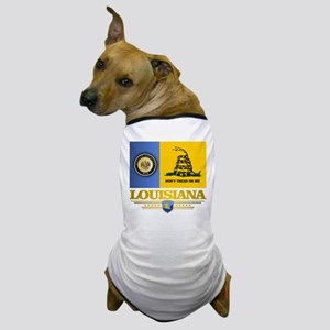 Louisiana Gadsden Flag Dog T-Shirt