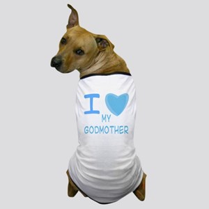 Blue I Heart (Love) My Godmother Dog T-Shirt