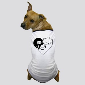 CatDog Heart Dog T-Shirt