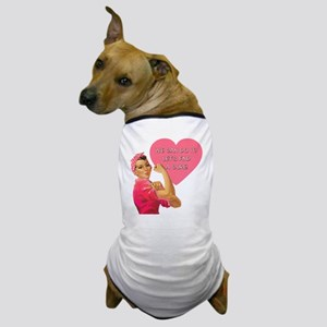 Rosie the Riveter Breast Cancer Dog T-Shirt