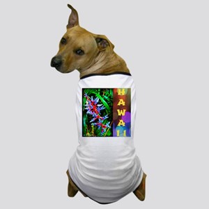 Hawaiian FireCracker Heliconia Dog T-Shirt