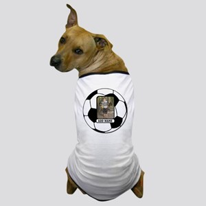 Photo and Name personalized soccer ball Dog T-Shir