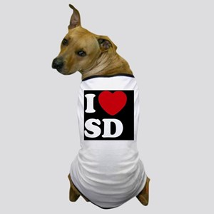 I Heart SD blackt Dog T-Shirt