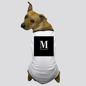 Black and White Monogram Name Dog T-Shirt