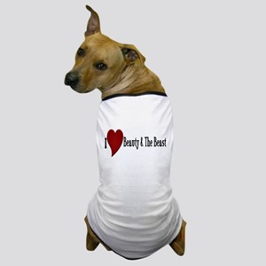 Beauty and The Beast Heart Design Dog T-Shirt