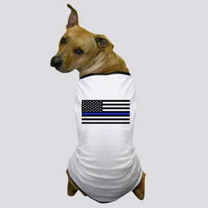Thin Blue Line American Flag Dog T-Shirt
