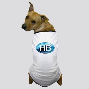 HB Holden Beach Wave Oval Dog T-Shirt