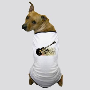 Shattering Blues Guitar Dog T-Shirt