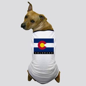 Colorado State Flag Dog T-Shirt