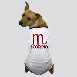 Red Scorpio Symbol Dog T-Shirt