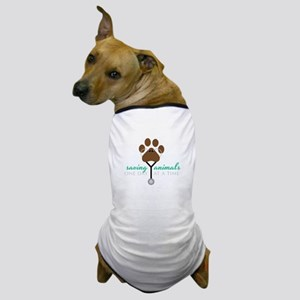Saving Animals Dog T-Shirt