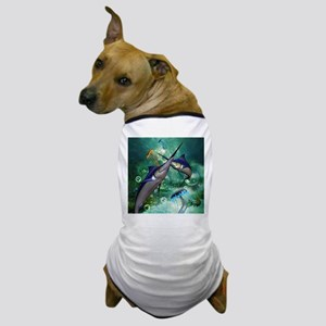 Awesome marlin with jellyfish Dog T-Shirt