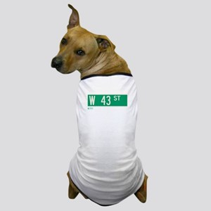 43rd Street in NY Dog T-Shirt