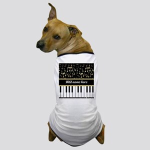 Personalized Piano and musical notes Dog T-Shirt