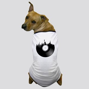 New York City Vinyl Record Dog T-Shirt