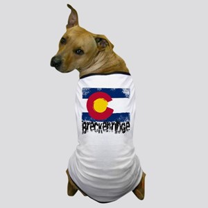 Breckenridge Grunge Flag Dog T-Shirt