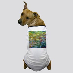 Water lilies by Claude Monet Dog T-Shirt