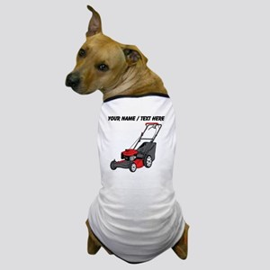 Custom Red Lawnmower Dog T-Shirt