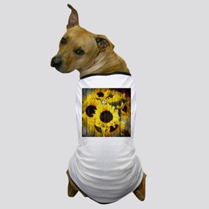 western country yellow sunflower Dog T-Shirt