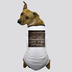rustic primitive grey barn wood Dog T-Shirt