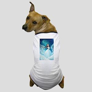 Girl with Moon and Violin Dog T-Shirt