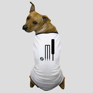 Cricket ball bat stumps Dog T-Shirt