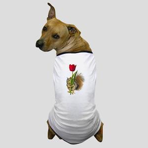 Squirrel Red Tulip Dog T-Shirt